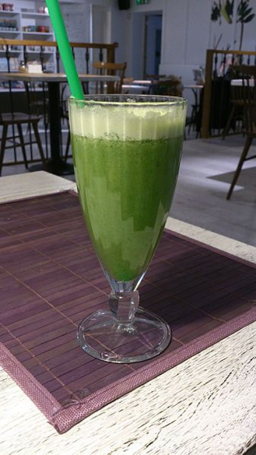 It's not easy being green. The green smoothie is an acquired taste