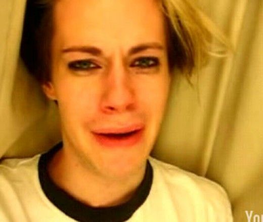 "Chris Crocker in his video, ""just leave Brittney alone!"""