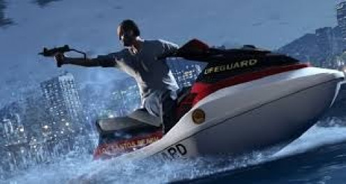 In GTA 5 you can drive boats or ride on the jet skis. It's entertaining but be careful not to wreck.