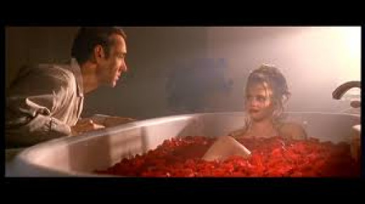 """Scenes from the movie, """"American Beauty,"""" an example of a midlife crisis"""