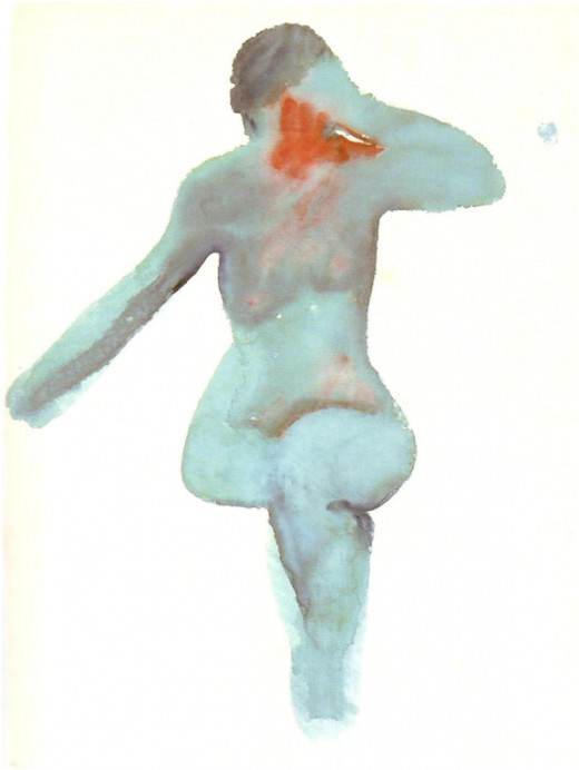 Figure 1:  Nude Series VIII, 1917.  Watercolor, 45.7 x 34.3 cm.