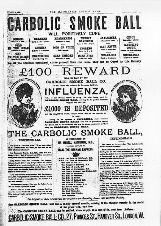 Carbolic Smoke Ball {{PD-US}} – published in the US before 1923 and public domain in the US