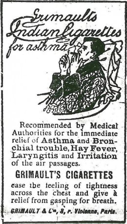 Grimaults Asthma Cigarettes
