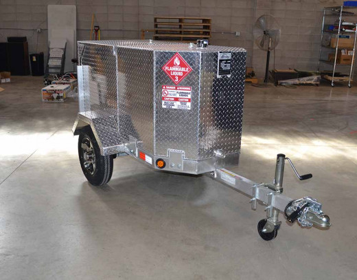 Pro 110 Industrial FTS gas trailer, featuring a fuel transfer system.