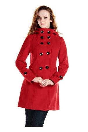 Lovely Red Trench Coat