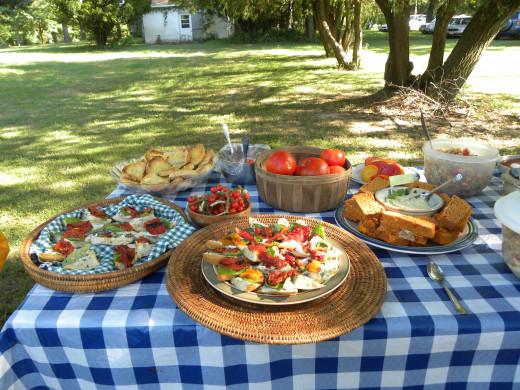 Some of the tomato-themed recipes featured at La Vista's annual Tomato Fest.