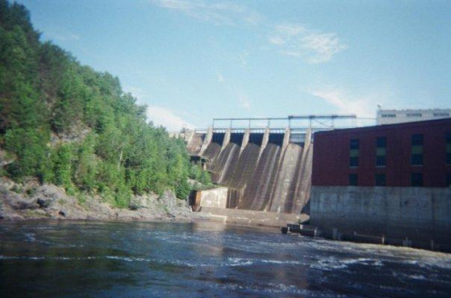 On the stairs looking at Harris Station Dam. This is where you will begin your journey on the Kennebec. 2008