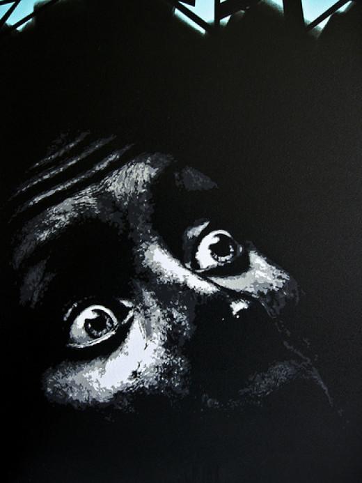 Fear- Stencil Detail from Skript flickr.com