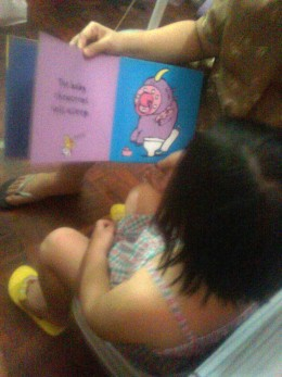 Reading books about potty helped my daughter.