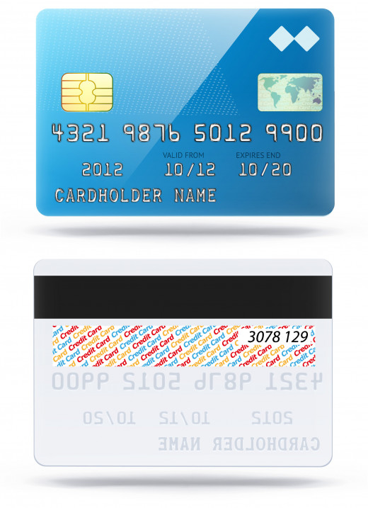 Picture 1 on top is how your credit card looks like on the front. Picture 2 at the bottom is the backside of your credit card with your signature and CVV number.