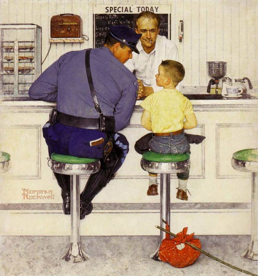 """The Runaway""  by Norman Rockwell"