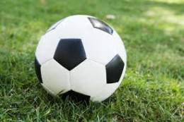 A common soccer ball.
