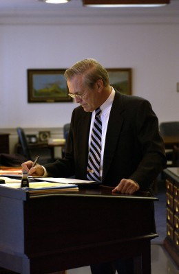 Former Secretary of Defense, Donald Rumsfeld, was known for using a standing desk. If he can do it, so can you!