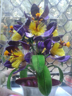 Artificial Flowers of Thread Garden in Ooty, Tamil Nadu - India