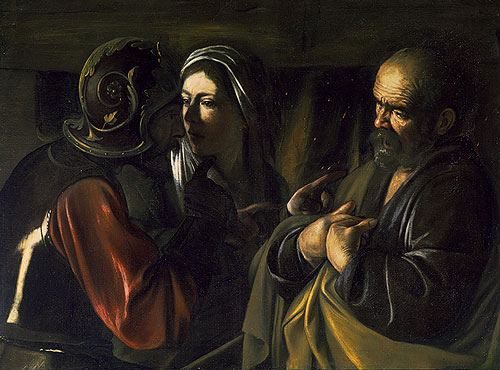 The Denial of Saint Peter, Caravaggio (Michelangelo Merisi) (1571-1610)