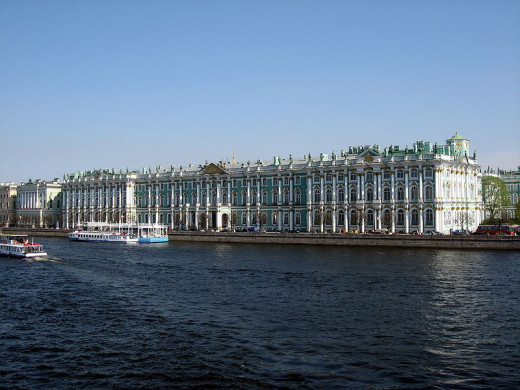 The State Hermitage / Federal Cultural Institution (Hermitage Museum) in St. Petersburg, Russia was photographed by Dezidor on May 21, 2008.