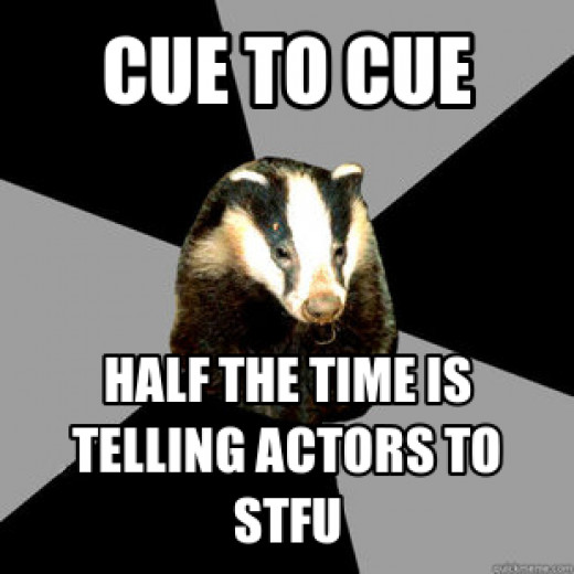 Being also an actor, I can relate to this so I had to post this for humor purposes only. Remember, without actors, there would be no show.