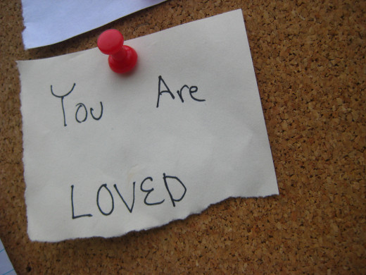 Simple little love notes can remind someone that there's somebody who loves them or cares about them.