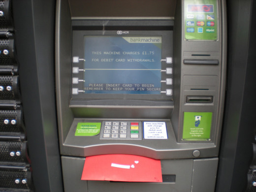 Leave your valentines in all sorts of places, like this one in an ATM!