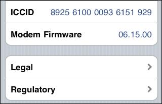 iPad baseband 06.15.00