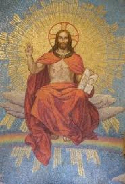 This is the traditional posture of the Roman God Dionysius. However, this is supposed to be Jesus. Why would Jesus hold his hand like that? A: Because it's Dionysius, a demonic substitution.
