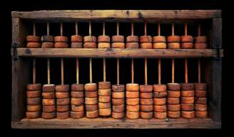 An ancient abacus.