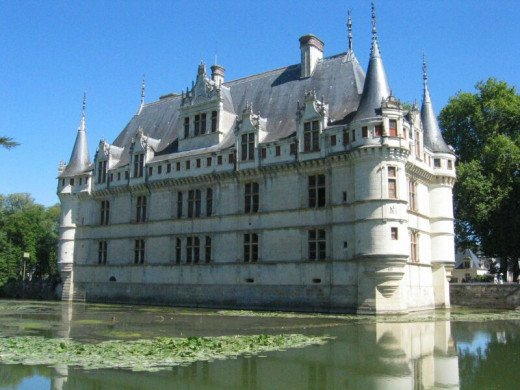 The Azay-le-rideau Chateu which is in the Loire Valley.