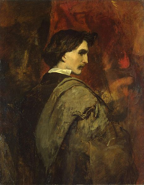 Anselm Feuerbach (1829-1880) painted this self-portrait circa 1854.