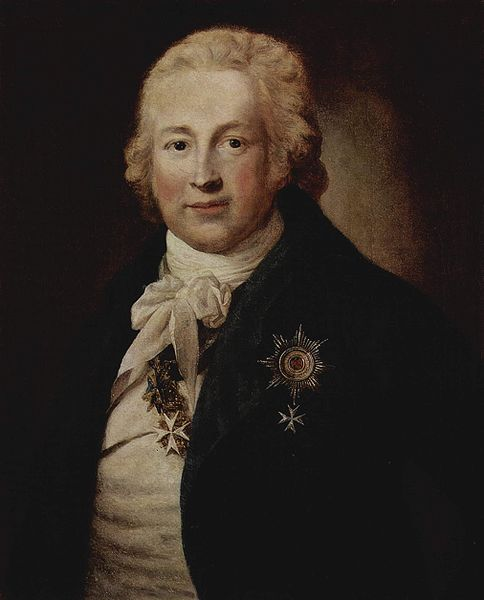 This portrait of Christoph Johann Friedrich Medem, Privy Councillor [councilman] in the Russian service and Russian Ambassador to the United States was painted by Anton Graff (1736-1813) in 1796.