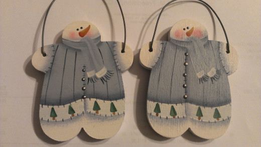 Hand painted snowman ornaments! So cute and BEST sellers!