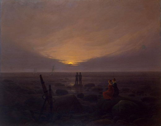 Moonrise over the Sea was painted by Caspar David Friedrich (1774-1840) circa 1820.