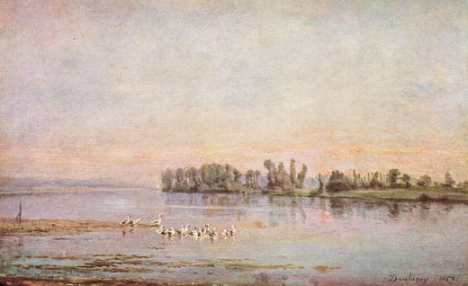 Morning was painted in 1858 by Charles-François Daubigny (1817-1878).
