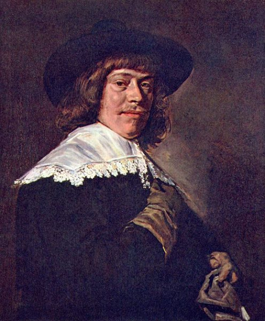 Portrait of a Young Man Holding a Glove was painted by Franz Hals (1582-1666) circa 1650