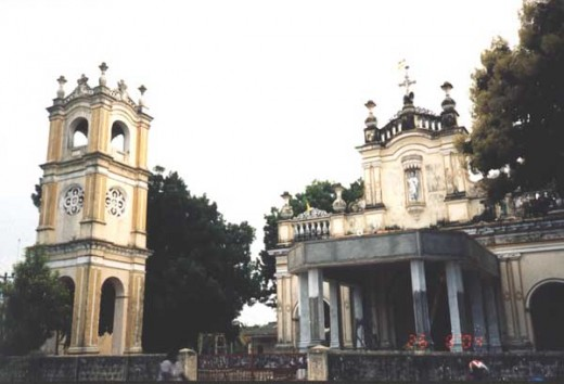 A Church in Jaffna with free standing Bell Tower.