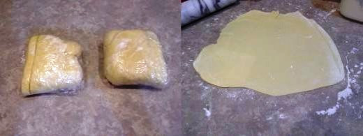 Step Eight: Now it's time to prepare your crust. These ares my wrapped up crusts from the dough I made yesterday (See my Homemade Flaky Pie Crust recipe), Step Nine: Roll one out with your rolling pin