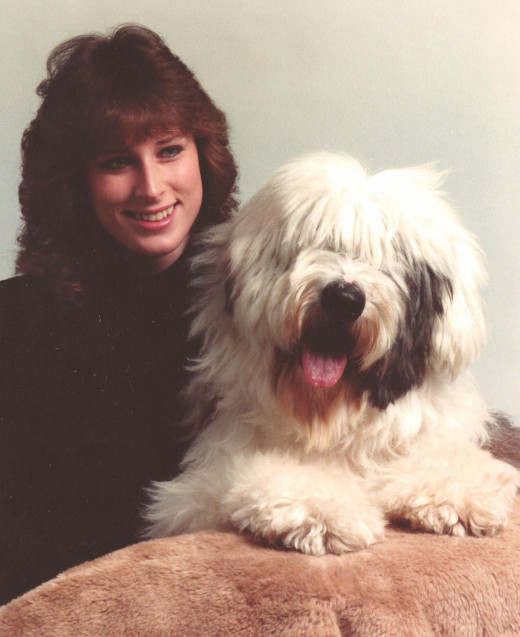 My dog and I in college.  Confident, active and happy over all with my life.