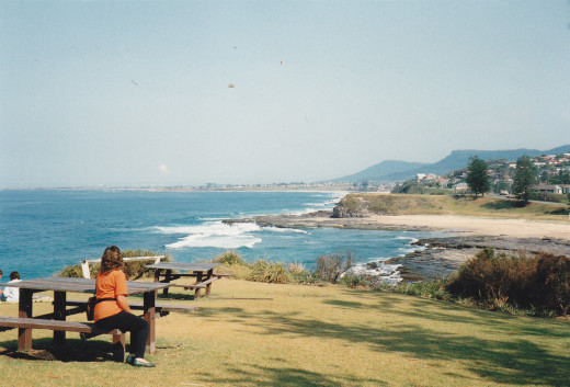 Looking south towards the city of Wollongong.   A beautiful land, filled with sand, sunshine and surf.
