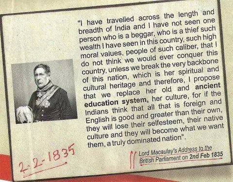 "How India was ""colonized"" is reflected in this ""brilliant"" thinking of a British Official"
