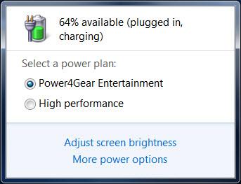 Laptop battery level