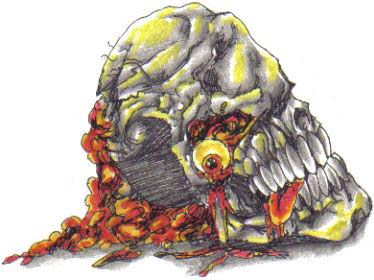 Rotten Skull Colored Drawing. Yet another tattoo idea featuring the skull image.