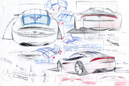 early sketches before going to Coventry design school. Good quality sketches!