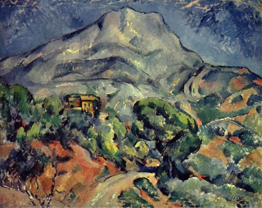 Paul Cézanne (1839-1906) painted Street in Front of Sainte-Victoire Mountain circa 1898-1902.
