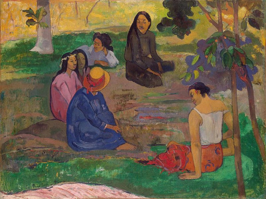 Paul Gauguin (1848-1903) painted Conversation in 1891.