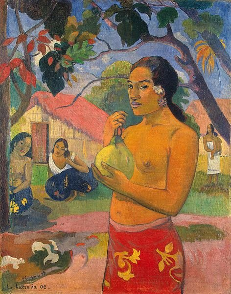 Paul Gauguin (1848-1903) painted Where Are You Going? (also known as Woman Holding a Fruit) in 1893.