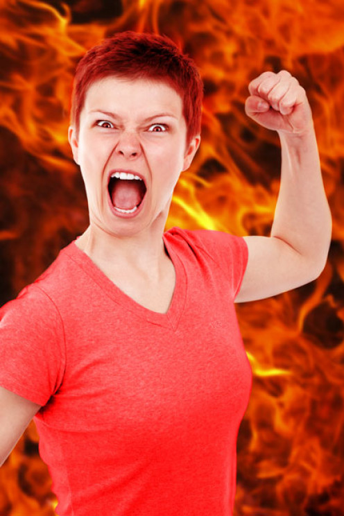 Angry Woman by: Vera Kratochvil