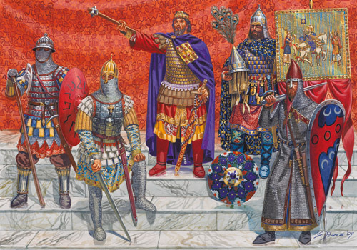 Varangians on guard in the emperor's palace - Basil may be a hard taskmaster, but he is fair and open-handed!