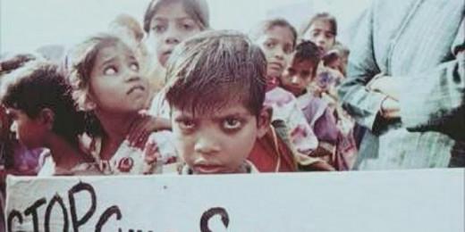 Child Laborers protesting