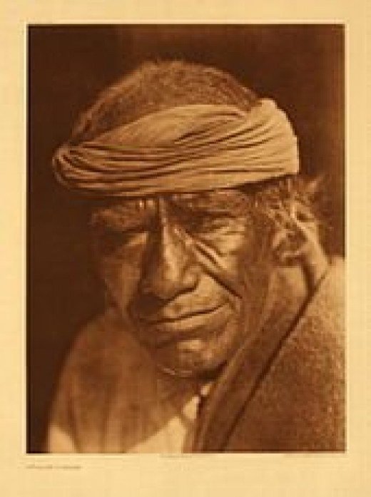 Tuvahe, photographed at Jemez Pueblo by Edward S. Curtis.