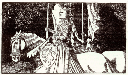 Howard Pyle illustration from the 1903 edition of The Story of King Arthur and His Knights scanned and archived at http://www.gallery.oldbookart.com/main.php?g2_itemId=2708 where it was marked as Public Domain.