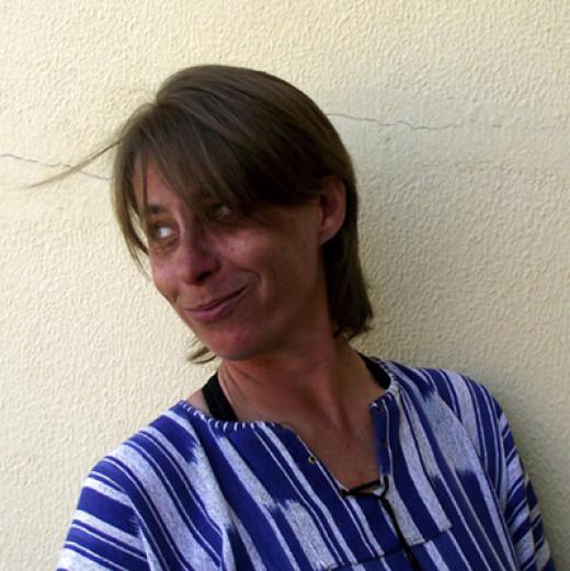 A happy bubbler! Teresa Schultz.